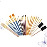 Huixindd 25 Pinceles de Estudiantes Conjunto Cepillo Multifuncional Acuarela Acuarela Pintura de Aceite DIY Herramientas de Pintura Estudiante Arte (Cor : Assorted Color)