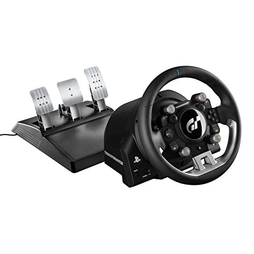 THRUSTMASTER T-GT Volante incl. 3-Pedali, Force Feedback, 270° - 1080°, Eco-Sistema, Gran Turismo, PS4 / PC