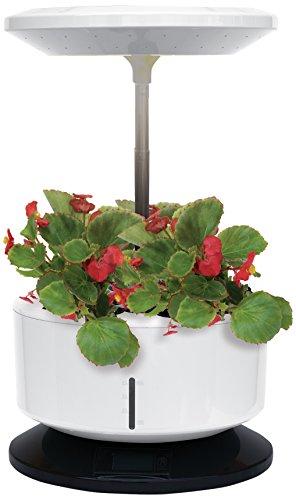 Tecno Air System Gardenm-B Garden Machine Pot avec éclairage LED - Dimensions : 32 x 21 x 82 cm - Blanc