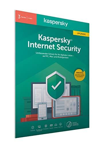Preisvergleich Produktbild Kaspersky Internet Security 2020 Upgrade / 3 Geräte / 1 Jahr / Windows / Mac / Android / Aktivierungscode in frustfreier Verpackung