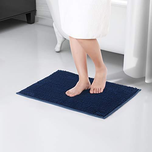 Grigio Chiaro RenFox Tappeto da Bagno Assorbente Antiscivolo Tappetini per Il Bagno Morbido Tappetino Doccia Microfibra Pelo Lungo Lavabile in Lavatrice 50 x 80 x 3 cm