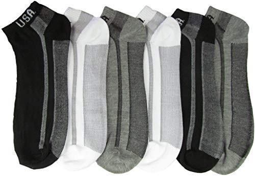Women & Teen Cotton Ankle Socks with USA Logo44; Solid Assorted Color - Size 9-11 - Case of 144-144 Per Pack