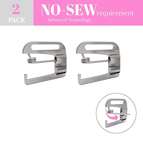 No Sew, Metal Swimsuit Bra Hooks, Lingerie Hook Replacement, Slide Hooks (1/2 inch) by Pin Straps (2)