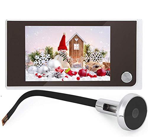 Digital Door Viewer,Peephole Viewer,Intercom Doorbell 720P 3.5 Inch LCD Screen+120° Wide Angle,24 Horas de Seguimiento,Mirilla electrónica Ojo de Gatopara Seguridad de Casa/Hotel