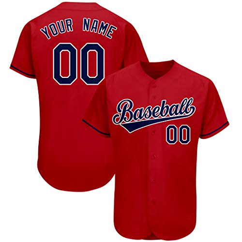 Custom Baseball Jersey for Men & Women, Personalized Team Uniforms, Stitched Letters and Numbers