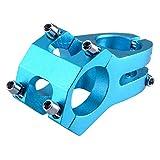 TRIWONDER Potencias MTB Vástago de Manillar Aleación de Aluminio Ligero 31.8 x 45mm para Ciclismo Bicicleta Montaña (31.8 x 45 mm - Azul)