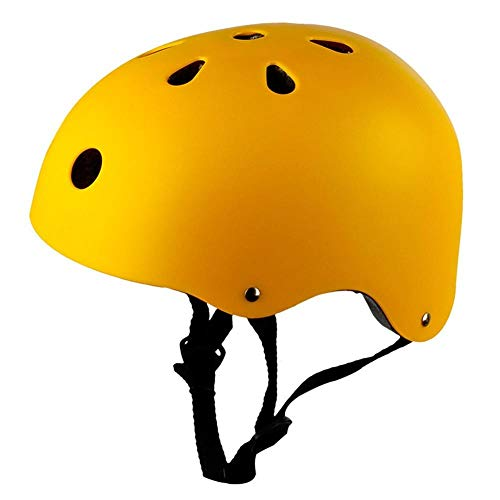 lhmlyl Cycling Helmet Round Mountain Road Bike Adult Kids Outdoor Sports Bicycle Skateboard Safety Strong MTB Cycling Helmet Cap 3 Size 6 Color-Yellow_L_58_to_61cm