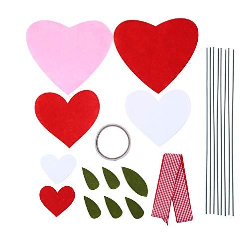 Artykuły do samodzielnego wykonania kształt serca doniczka dekoracja sztuczne kwiaty aranżacje kwiatów prezenty walentynkowe