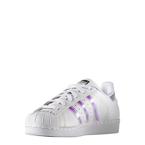 adidas Originals Superstar J-K Sneaker, Weiß Weiß Metallic Silber, 40 EU