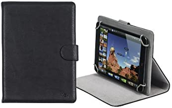 Rivacase 3014 Universal Tablet Cover Case, Stylish, Protective, Black Color