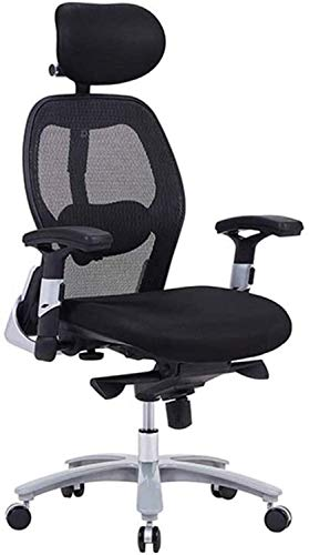 N/Z Home Equipment Office Chair Reclining Office Desk Chair Adjustable High Back Ergonomic Computer Mesh Recliner Home Office Chairs with Lumbar Support Black (Color : Black)
