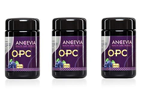 ANCEVIA OPC Traubenkernextrakt 2er Set + 1 Gratis - 180 Kapseln OPC im 3 x Glas - Laborgeprüftes OPC aus französischen Trauben - 200 mg reines OPC je Kapsel (HPLC)