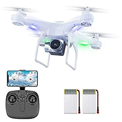 60 Mins Flight Time Drone, XINGRUI RC Drone with 1080P HD Camera Live Video FPV Quadcopter with Headless Mode, Altitude Hold Helicopter with 3 Batteries(20Mins + 20Mins+ 20Mins)