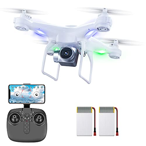 XINGRUI H96 RC Drone with 1080P HD Camera Live Video 5 Ghz WIfi FPV, Quadcopter with Headless Mode,...