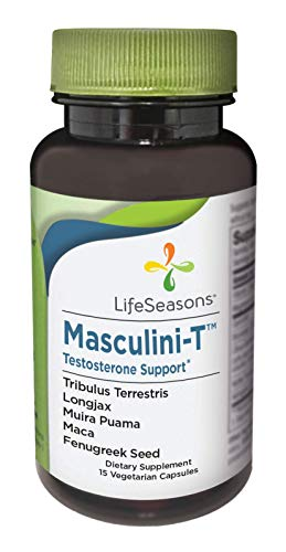 LifeSeasons - Masculini-T - Testosterone Support for Men - Supplement for Healthy Male Stamina, and Energy - with Ginkgo, Ginseng - 15 Capsules