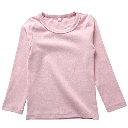 リリィ クプラウ 長袖Tシャツ ラウンドネック 無地 キッズ 120 ピンク