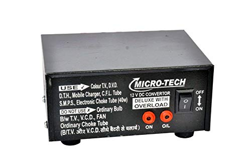 ERH India 100 Watt Dc to Ac Converter 12v to 220v 12v dc to 220v ac Converter 100 Watt Dc to Ac Mini Car Inverter with Two AC Power Ports