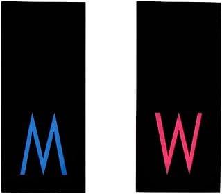 M & W Ensemble de deux enseignes de salle de bain - Signes de toilettes modernes - Signes de WC drôles - Hommes/femmes - S...