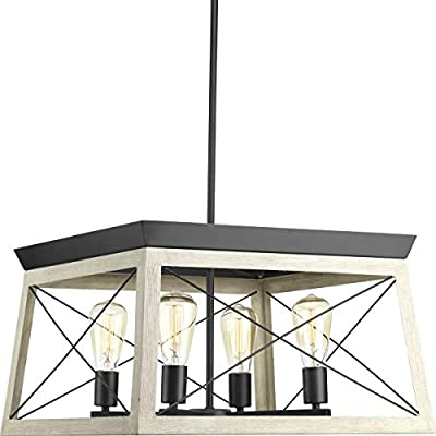 Briarwood Collection Whitewashed Four-Light Farmhouse Chandelier