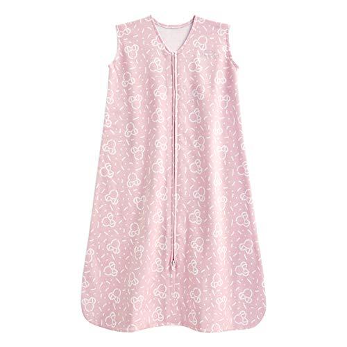 Halo Disney 100% algodón saco de dormir, manta de confeti Minnie rosa, grande, 12-18 meses