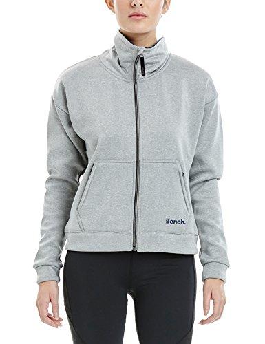 Bench Damen Support Sweatjacke, Mid Grey Marl, XL