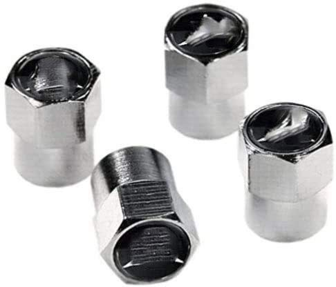 4 unids Carvas de neumáticos de la válvula de neumáticos Tapas de aire, para Mercedes Logo Emblem Auto Paps Válvulas Polvo Tapa de tallo Decoración Modelado Neumáticos Válvula Tapas de vástago Accesor