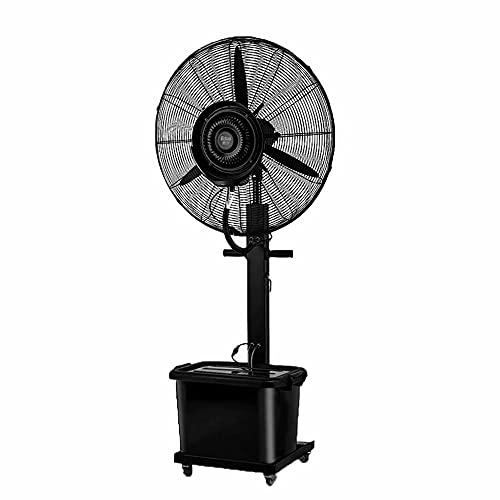 CUIJU Ventilador Industrial Base de Ventilador móvil silencioso Potente Ventilador de pie oscilante de Metal, Negro, 81cm