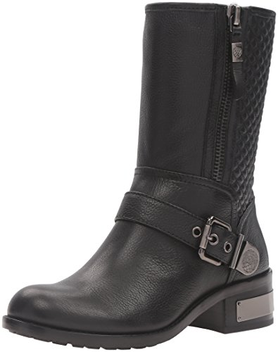 Vince Camuto Womens Whynn Motorcycle Boot, Black, 6.5