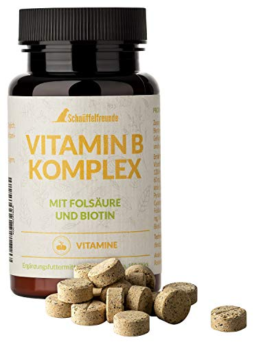 Schnüffelfreunde Vitamin B Komplex I Vitamin B Complex for Dogs I With Folic Acid and Biotin I Vitamins B1, B2, B3, B6 and B12 - Made in Germany