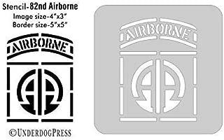 Stencil- 82nd Airborne, 4x3 Inch Image on 5x5 Border, Size 2
