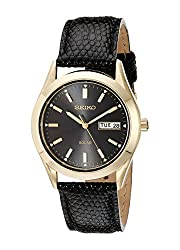 Seiko Men's SNE054 Solar Strap Black Dial Watch - see my reviews