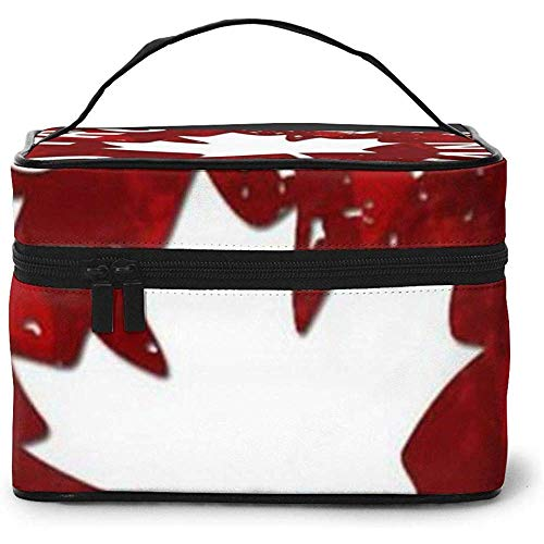Canada, Maple Leaf Portable Ladies Travel Cosmetic Case Bag Storage Makeup Pouch Multi-Function Wash Grand Capacity Makeup Bag