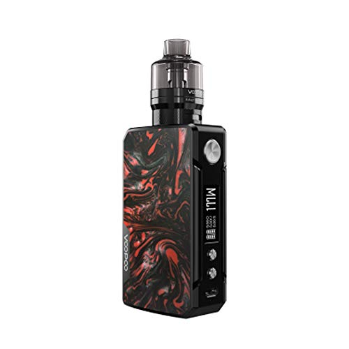 VOOPOO Drag 2 Kit da 177 W TC con Drag 2 MOD + UFORCE T2 Serbatoio, Sigaretta elettronica Adotta il chip Gene.FIT con Vapeonly Bag No Nicotina, No E Liquid (B-Scarlet)
