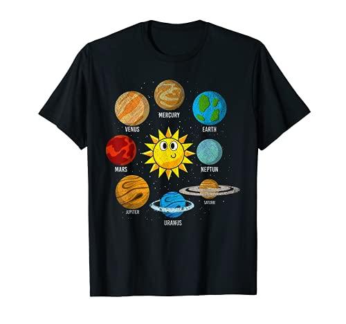 Système Solaire Planètes Science Enfant Astronaute Espace T-Shirt