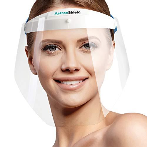 AstronShield Pantalla de protección de toda la cara (boca, nariz, ojos) de máxima transparencia. Máxima visibilidad y comodidad.