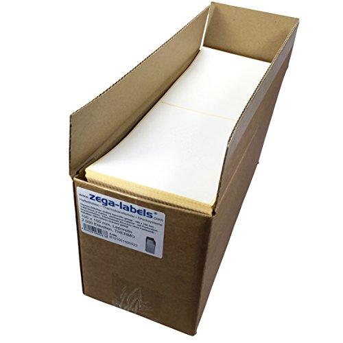 zega-labels Thermo Etiketten endlos leporello gelegt - 100 x 150 mm - 2.000 Stück je Karton - permanent haftend - mit Perforation - Druckverfahren: Thermodirekt (ohne Farbband) - Versandetiketten für DHL, DPD, GLS, Hermes, UPS
