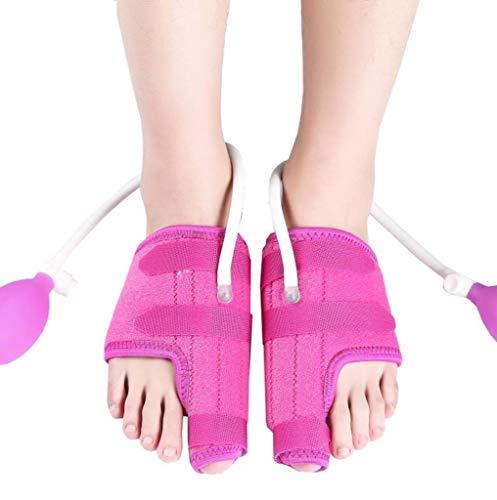 Ortesis de juanete, separador del dedo del pie del gel, almohadilla de apoyo del dedo del pie Zapatos correctivos for hombres/mujeres/bailarines (Color : Rosado)