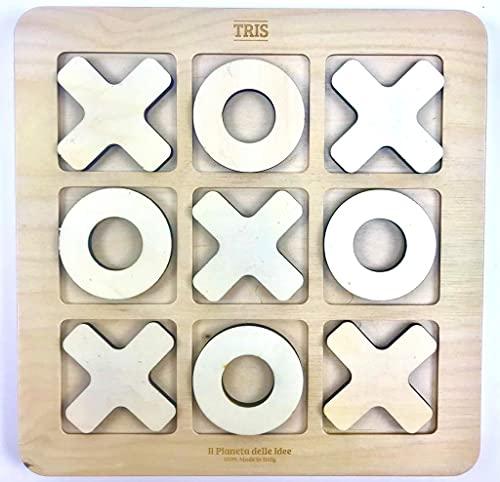 Tic Tac Toe - Morpion Grand. Cm 24x24. Fabriqué en Italie -100% énergie Verte