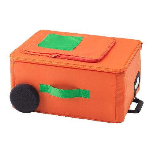 Ikea Flytbar maleta caja naranja 40x30x20 cm