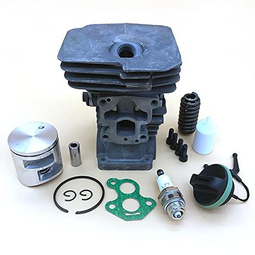 FBUWX Kit de bujía de pistón de Cilindro de 41mm para Husqvarna 435 435e 440e 440 II, Piezas de Repuesto de Tapa de Combustible de Gas de Motosierra Eficiente