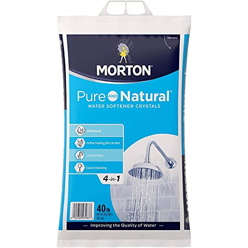 Morton U26624S Pure AND Natural Water Softening Crystals, 40-Pound,White