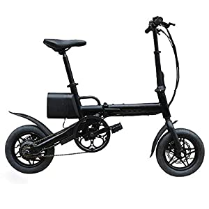 Dygzh Electric Bicycle Lightweight Aluminum Frame Electric Bicycle 36V 6.6AH 250W12 Inch Folding Electric Bike Market Folding Electric Bicycle
