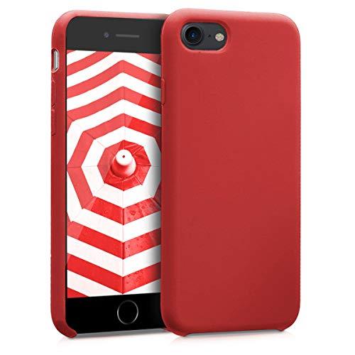 kwmobile Funda Compatible con Apple iPhone 7/8 / SE (2020) - Carcasa de TPU para móvil - Cover Trasero en Rojo Oscuro