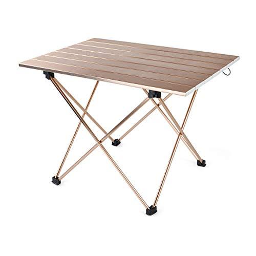 XRFF Mesa Plegable de Aluminio, Camping Playa Ultraligero mochilero Mesa Plegable con el Escritorio Llevar Bolso al Aire Libre Muebles de jardín