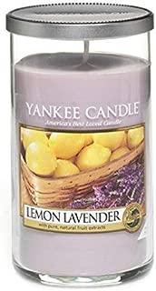 Yankee Candles Medium Pillar Candle - Lemon Lavender