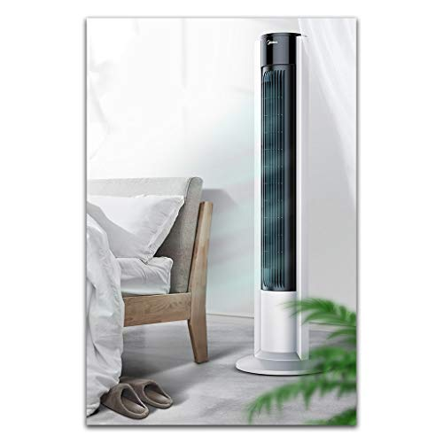 Xing Hua home Turmventilatoren Turmventilator Energiesparventilator Mit Fernbedienung Dreistufiger Variabler Vertikaler Luftkühler Geräuschloser Ventilator for Studentenwohnheime