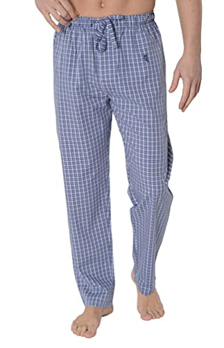 El Búho Nocturno - Pantalón Largo Popelín Cuadros Azulón 100% algodón Talla 7 (XXXL)