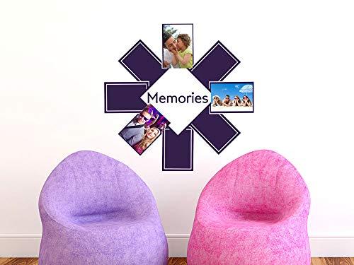 GRAZDesign muurtattoo fotowand Memories - muursticker wanddecoratie fotolijst voor 8 foto's / 160129 822 waterlilly.