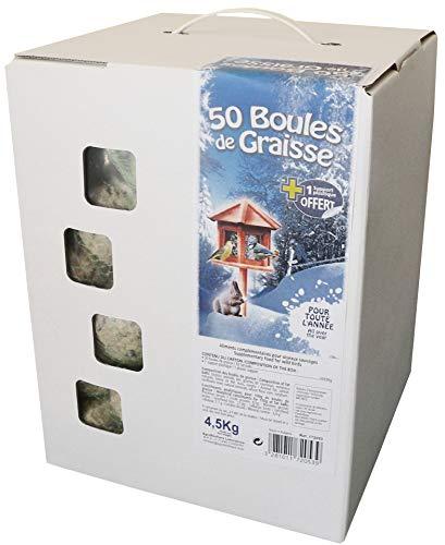 Agrobiothers cartón de 50de Bolas de Grasa para pájaro/Animal Salvaje