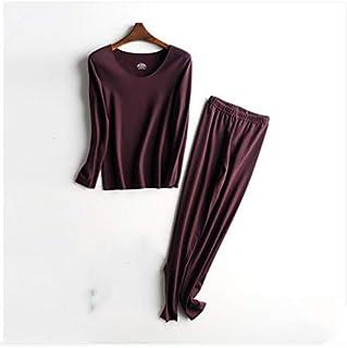 Lingerie Sets Suit plus velvet thickening constant temperature cold-proof autumn clothes long trousers women's winter fash...
